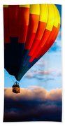 Hot Air Balloon And Powered Parachute Beach Towel by Bob Orsillo