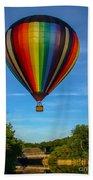 Hot Air Balloon Woodstock Vermont Beach Towel