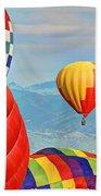 Hot Air Balloons Beach Towel by Scott Mahon