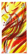 Hot Lines Twist Abstract Beach Towel