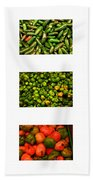 Hot Pepper Collage Beach Towel