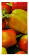 Hot Peppers Beach Towel
