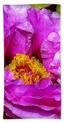 Hot-pink Flower Beach Towel