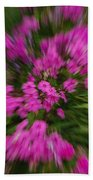 Hot Pink Flower Zoom Beach Towel