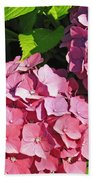Hot Pink Hydrangea Beach Towel