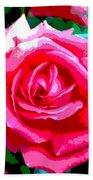 Hot Pink Rose Beach Towel
