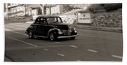 Hot Rod On The Street Beach Towel
