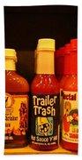 Hot Sauce Display Shelf Three Beach Towel