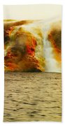 Hot Water Pouring Beach Towel