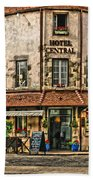 Hotel Central In Beaune France Beach Towel