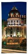 Hotel Negresco By Night Beach Towel