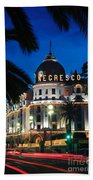 Hotel Negresco Beach Towel by Inge Johnsson