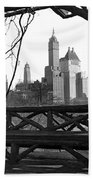 Hotels Seen From Central Park  Beach Towel