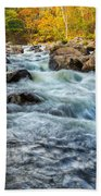 Housatonic River Autumn Beach Towel