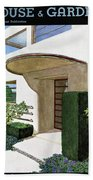 House & Garden Cover Illustration Of A Modern Beach Towel