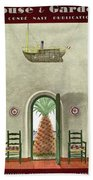 House And Garden Interior Decoration Number Cover Beach Towel