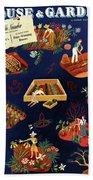 House And Garden The Gardener's Yearbook Cover Beach Towel