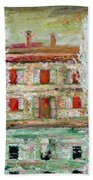 House And River Beach Towel