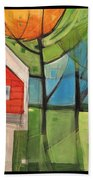 House In The Trees Beach Towel