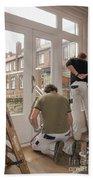 House Painters At Work Beach Sheet