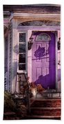 House - Porch - Cranford Nj - Lovely In Lavender  Beach Towel