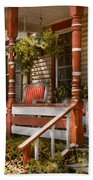 House - Porch - Traditional American Beach Towel by Mike Savad