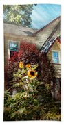 House - Westfield Nj - The Summer Retreat  Beach Towel by Mike Savad