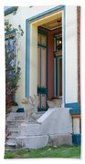House With Griffin Lafayette Square St Louis Beach Towel