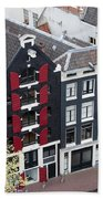 Houses In Amsterdam From Above Beach Towel