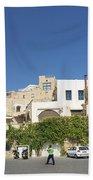 Houses In Jaffa Tel Aviv Israel Beach Towel