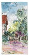 Houses In Soufflenheim Beach Towel