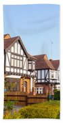 Houses In Woodford England Beach Towel
