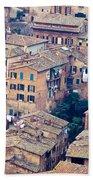 Houses Of Old City Of Siena - Tuscany - Italy - Europe Beach Towel