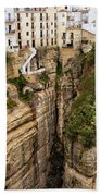 Houses On A Rock In Ronda Beach Towel