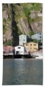 Houses With Expressive Brushstrokes Beach Towel