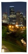 Houston At Night Beach Towel