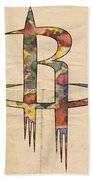Houston Rockets Logo Art Beach Towel
