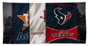Houston Sports Teams Beach Towel