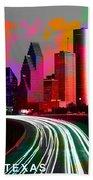 Houston Texas Skyline  Beach Towel