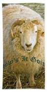 Hows It Going Old English Hunter Green Beach Towel