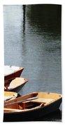 Hoyt Lakes Rowboats In Delaware Park Buffalo Ny Oil Painting Effect Beach Towel