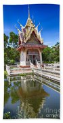 Hua Hin Temple Pond Beach Towel