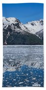 Hubbard Glacier Mountain Reflection Beach Towel