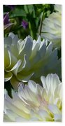 Hues Of Softness Dahlia Beach Towel