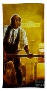 Huey Lewis-mario-gd19a-fractal Beach Towel