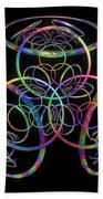 Hula Hoops Beach Towel