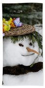 Hula Snowlady Beach Towel