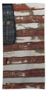 Hulbert Flag Early Us Flag 1776 Beach Towel by Photo Researchers