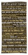 Human Carnival Sideshows And Other Oddities Of The World 20130625bwwa85 Beach Towel
