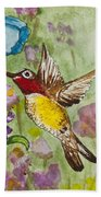 Humming Bird Beach Towel